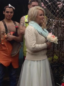 Tana's wedding walk